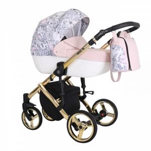 Baby Atelier - Baby Pram 3in1 Tiaro Premium - telaio gold o silver - TI 07