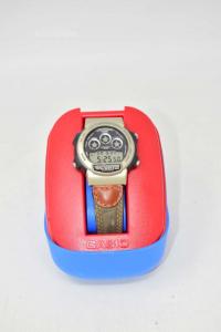Watch Casio 1534 W-728m With Leather Strap