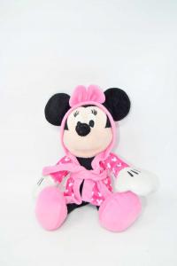 Minnie Plush In Bathrobe Pink 30 Cm