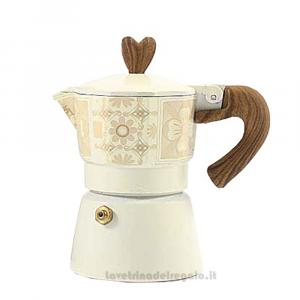 Caffettiera Moka Fantasy con manico in legno 11 cm - Idea Regalo