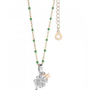 Comete collana donna in argento con quadrifoglio GLA226