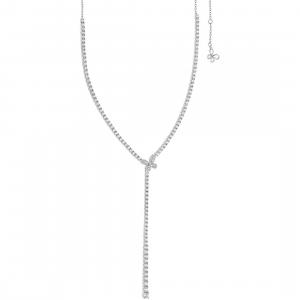 Comete Farfalla  collana tennis donna in argento con zirconi GLA159