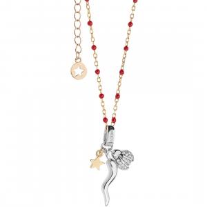 Comete Stella collana donna in argento con corno e coccinella GLA224