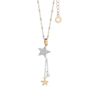 Comete Stella collana donna in argento con stelle GLA228