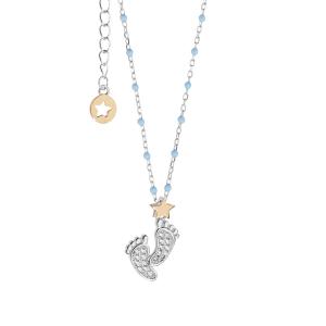 Comete Stella collana donna in argento con ciondolo piedini GLA222