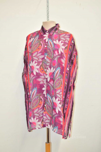 Shirt Woman Mara Venier Per Luisa Purple Size.41f 100% Viscose