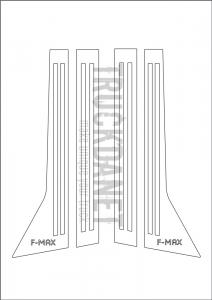 FORD F-MAX Piantone portiera con scritta F-MAX in acciaio inox lucido (aisi 304).