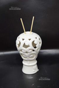 Perfumer In Ceramic White 15 Cm