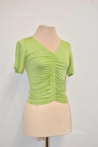 Maglia Donna Rocco Barocco Verde Elastica Tg.48