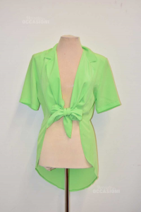 Shirt Woman Green With Spacchi - The Side Size.m