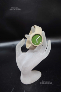 Watch Oclock Obag Rubber Dial Green,strap Size.l