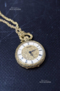 Pocket Watch Mortima 3cm With Catenella,charge Manual