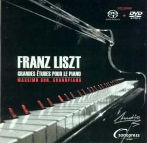FRANZ LISZT GRANDES ETUDES POUR LE PIANO MASSIMO GON  AUDIOPHILE EDITION SACD + DVD A