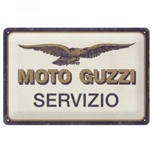 Cartello Moto Guzzi servizio cm 20 x 30 metallo