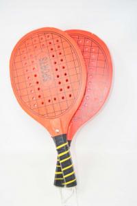 Palette Tennis From Beach Wood Orange Sports