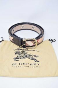 Belt Woman Burberry 1856 Made In Italy Ittivgr053cal 36 / 90 (defect Bordo)