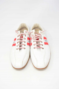 Shoes Man Gant White And Red N° 45