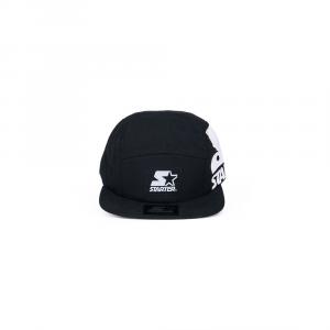 Starter® Caps Unisex: BLACK WITH MAXI PRINT
