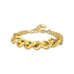 Luca Barra - Bracciale in acciaio dorato