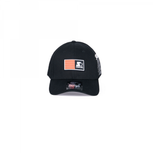 Starter® Caps Unisex: BLACK WITH SIDE PRINT