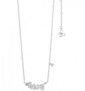 Comete farfalle collana in argento con cristalli bianchi  GLA160