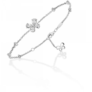 Comete farfalle bracciale in argento con cristalli bianchi BRA150