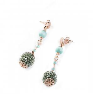 Sovrani orecchini pendenti donna pendenti Jade Cristal magique J5744