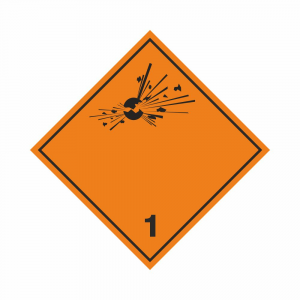 Adesivo trasporto merci esplosive