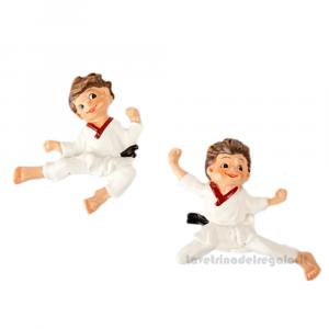 Magnete bambino Karate in resina 5x4 cm - Bomboniera comunione bimbo