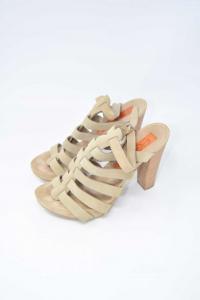 Sandals Woman Alberto Gozzi Beige N°.37