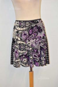Skirt Angela Apples Gray Black Purple Size S