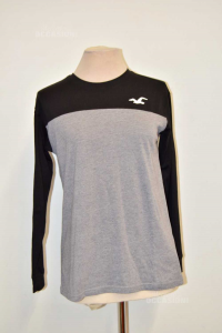T-shirt Woman Hollister Black Grey Size .xs