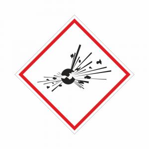 Adesivo etichettatura GHS01 sostanze esplosive