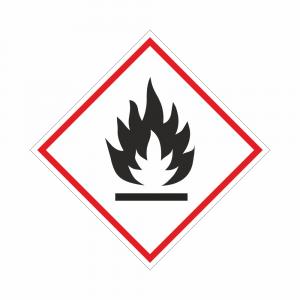 Adesivo etichettatura GHS02 sostanze infiammabili