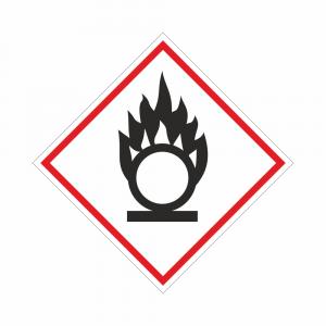 Adesivo etichettatura GHS03 sostanze comburenti
