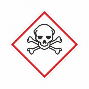 Adesivo etichettatura GHS06 sostanze tossiche