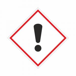 Adesivo etichettatura GHS07 sostanze nocive o irritanti