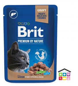 Chunks in Gravy con fegato per Sterilised Cats 0,100g