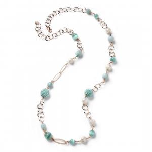 Sovrani collana donna Cristal Magique con perle di fiume J4827