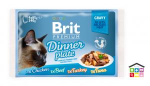 Brit Premium Cat Pouch Dinner Plate Gravy 12x100g