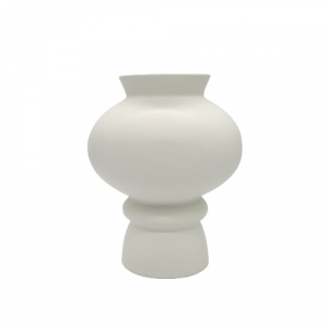 Mascagni Casa Vaso fiori bombato ceramica bianca
