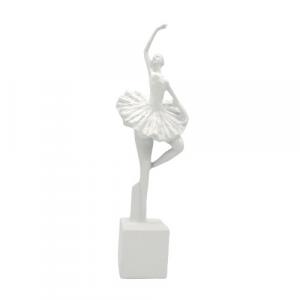 Mascagni Casa, ballerina ceramica bianca cm47