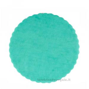 100 pz - Velo portaconfetti Tiffany smerlato rotondo in organza 23 cm - Veli matrimonio