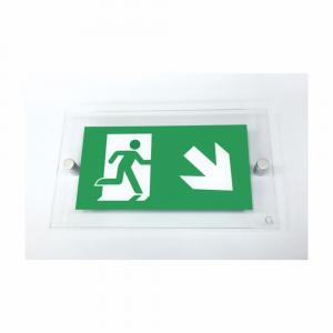 Cartello in plexiglass serie Avantgarde Uscita di emergenza