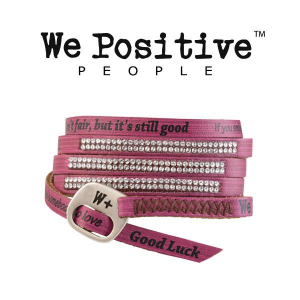 Bracciale We Positive. Luxury pelle.