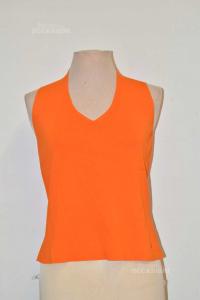 Tank Top Woman Burberry Size 44 Orange