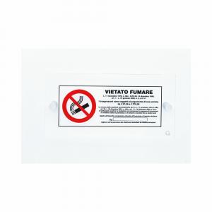 Cartello in plexiglass serie Avantgarde Vietato fumare con norma