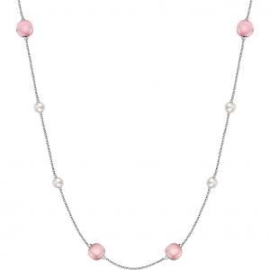 Morellato Collana Gemma - Occhi di Gatto Rosa, Perle