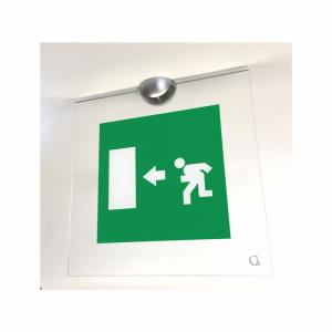 Cartello in plexiglass bifacciale serie Avantgarde Uscita di emergenza