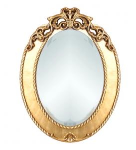 Miroir ovale or ou argent